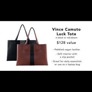 Stylish evereday tote!Vince Camuto!Coming soon!